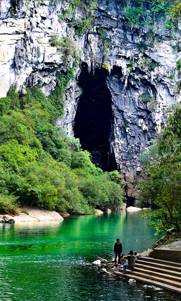 The entrance to this cave is China is tall enough to fit a 30-story building.