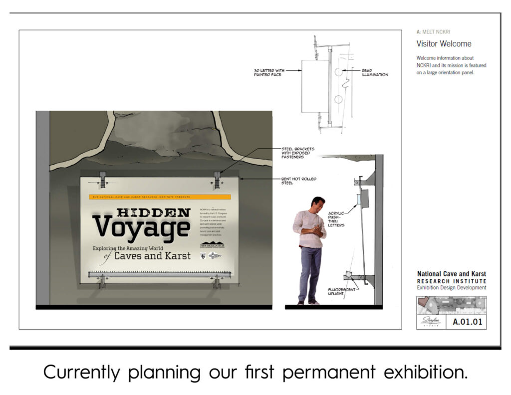 Cave Discovery Zone: Planning Exhibition