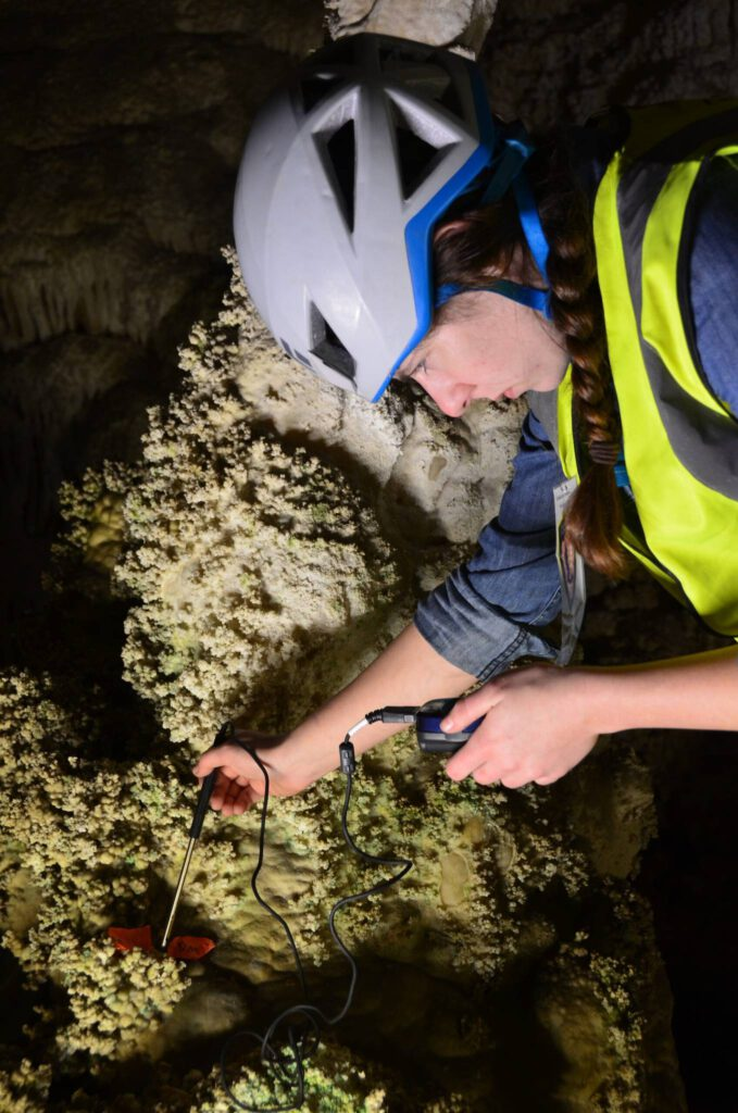 The NCKRI Academic Program teaches students how to research karst, study caves, and analyze findings like lampenflora to study the DNA and learn all about caves.